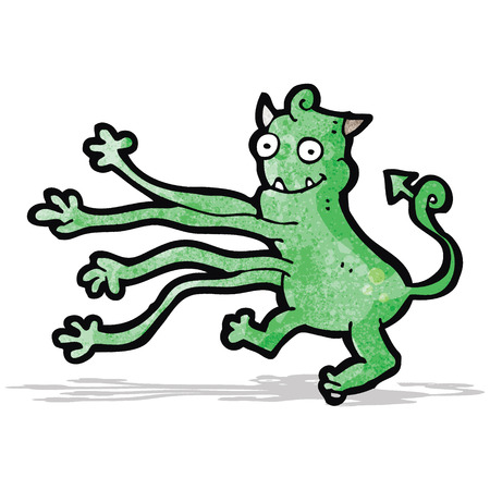 cartoon monster with long arms