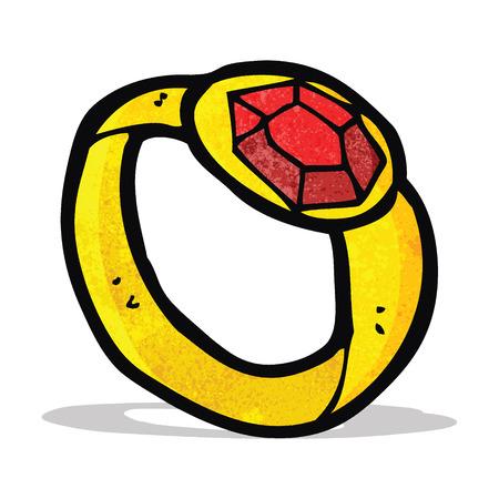 ring ruby: cartoon ruby ring