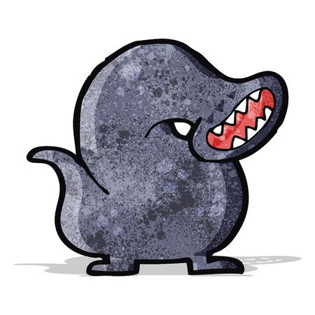 sanguijuela: sanguijuela gigante monstruo de dibujos animados