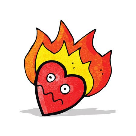 flaming heart: flaming heart cartoon character