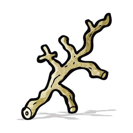 wooden stick: cartoon wooden stick Illustration