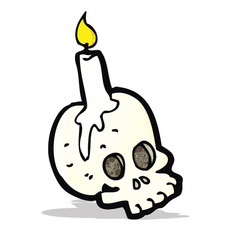cartoon skull candle Vector