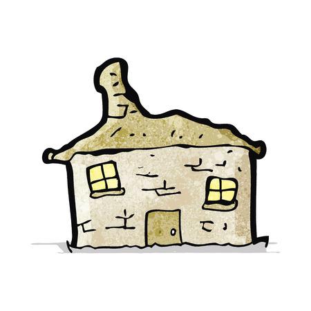 crumbling: cartoon crumbling old house