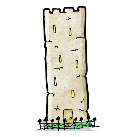 castle tower: cartoon old castle tower