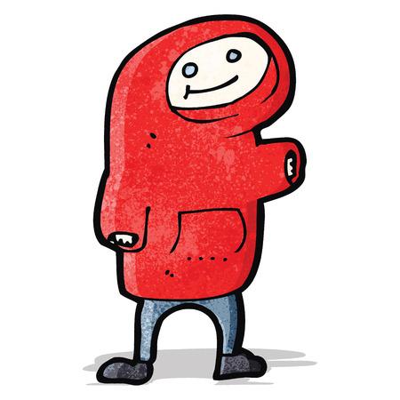 hooded top: cartoon boy in hooded top