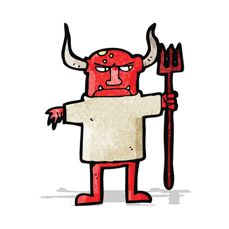 cartoon devil: cartoon devil man Illustration