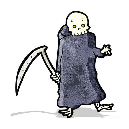 guada�a: muerte con guada�a de dibujos animados