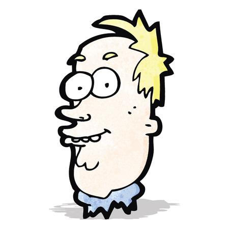 ugly man: cartoon ugly man