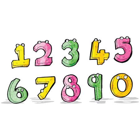cartoon numbers: N�meros de la historieta