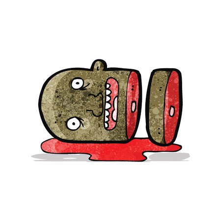 severed: cartoon gross severed head Illustration