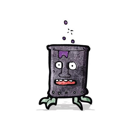 oliedrum: cartoon olievat kan Stock Illustratie