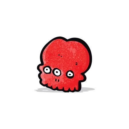 mutant: cartoon spooky mutant skull