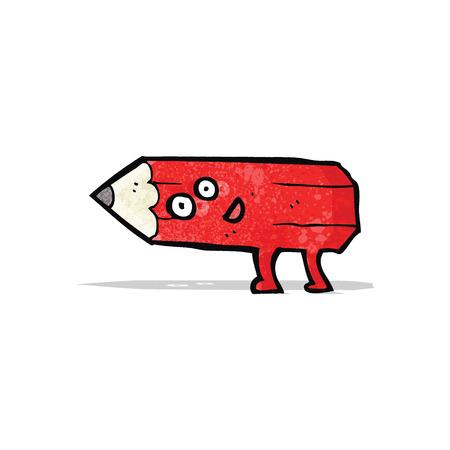 pencil cartoon: personaje de dibujos animados del l�piz