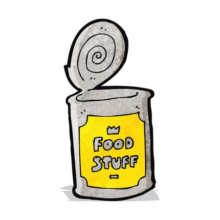 tinned: cartoon tinned food Illustration