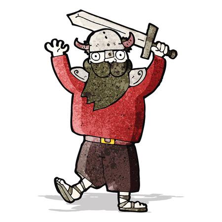 raider: cartoon medieval raider Illustration