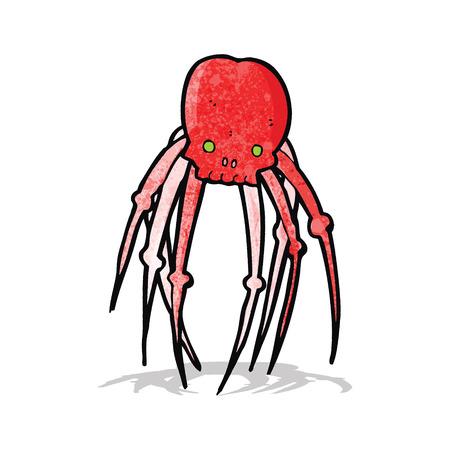 calavera caricatura: de dibujos animados cr�neo ara�a Vectores