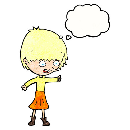 stressing: cartoon woman stressing out with thought bubble