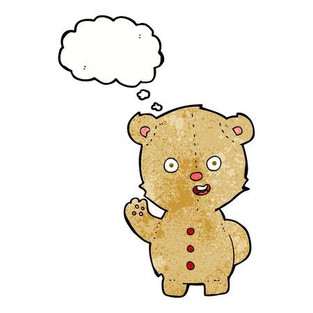balloons teddy bear: cartoon teddy bear with thought bubble Illustration