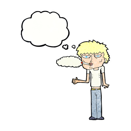 smokers: cartoon smoker with thought bubble