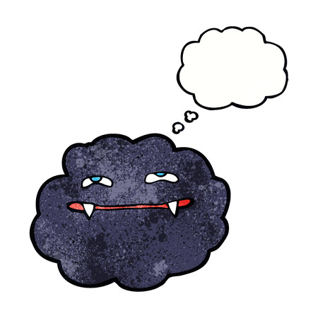 thought cloud: cartoon vampire cloud with thought bubble