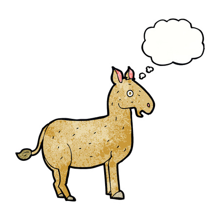 mule: cartoon mule with thought bubble