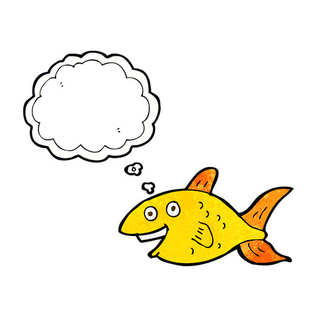 thought bubble: cartoon fish with thought bubble Illustration