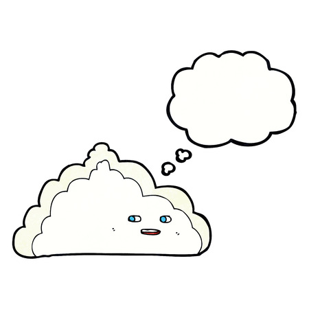 thought cloud: cartoon cloud with thought bubble Illustration
