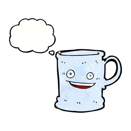 tankard: cartoon mug with thought bubble