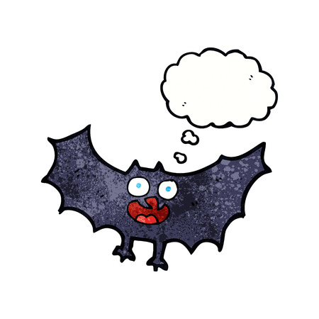 spook: cartoon bat with thought bubble