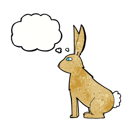 thought bubble: cartoon rabbit with thought bubble