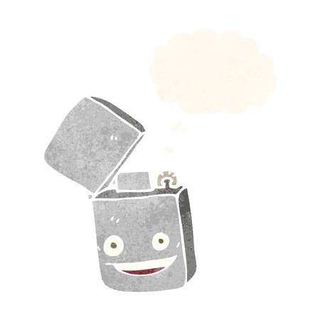 ljusare: cartoon metal lighter with thought bubble