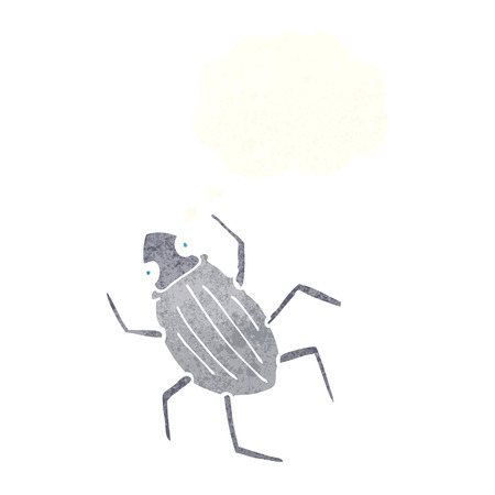 thought bubble: cartoon bug with thought bubble