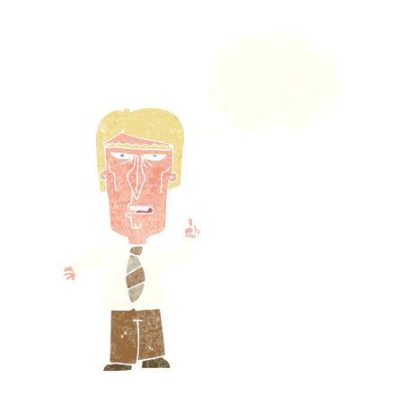 grumpy: cartoon grumpy boss with thought bubble
