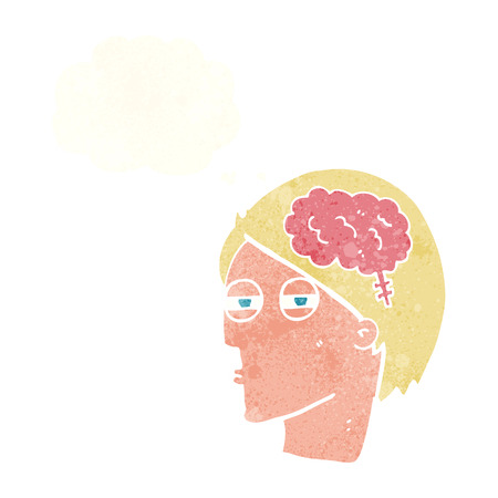 carefully: cartoon man thinking carefully with thought bubble