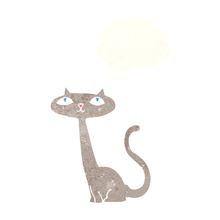 thought bubble: cartoon cat with thought bubble Illustration