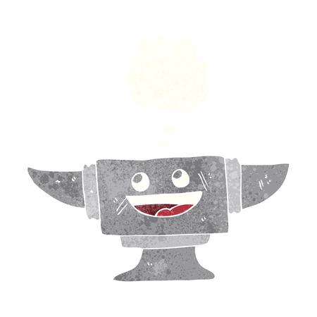 blacksmith: cartoon blacksmith anvil with thought bubble Illustration