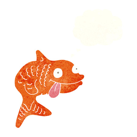 thought bubble: cartoon fish with thought bubble Vettoriali