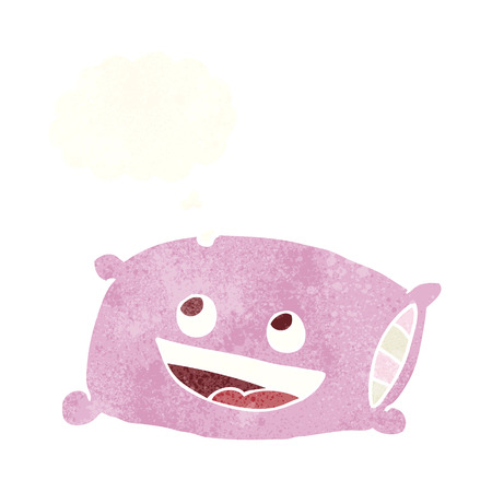 thought bubble: cartoon pillow with thought bubble