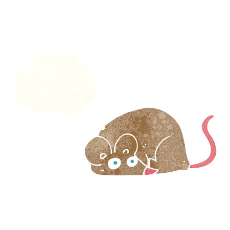 cartoon mouse with thought bubble Vector