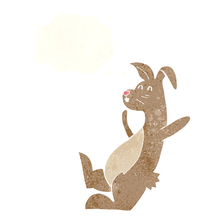 crazy hair: cartoon hare with thought bubble