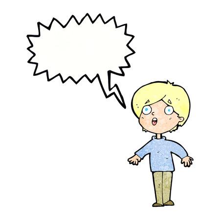 shocked man: cartoon surprised man with speech bubble
