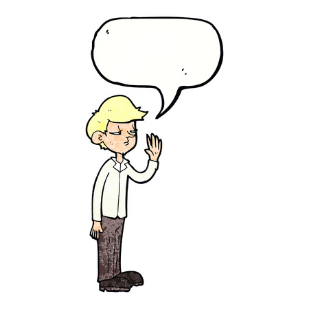 arrogant: cartoon arrogant boy with speech bubble