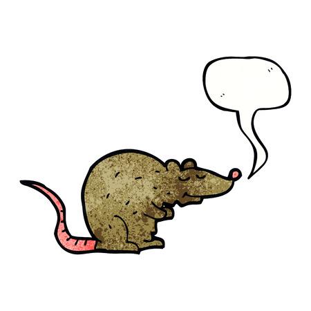 cartoon rat: cartoon rat with speech bubble Illustration