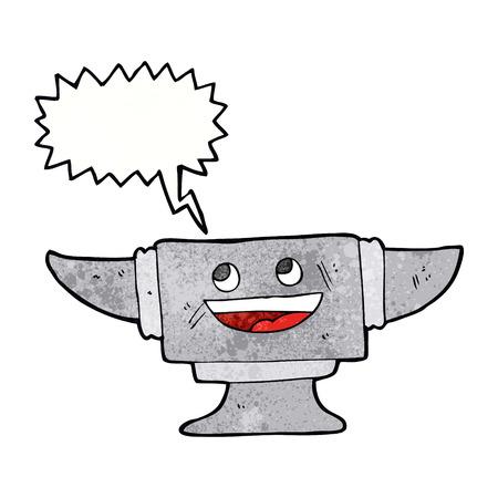 blacksmith: cartoon blacksmith anvil with speech bubble