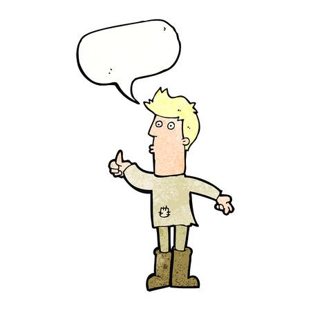 hombre pobre: dibujos animados pobre hombre con bocadillo Vectores