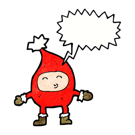 funny christmas: cartoon funny christmas character with speech bubble