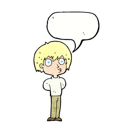 impressed: cartoon impressed boy with speech bubble