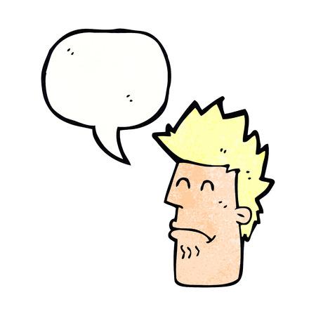 cartoon man ziek gevoel met tekstballon