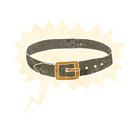 leather belt: cartoon leather belt with speech bubble