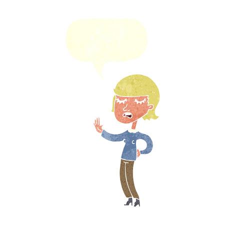 ignoring: cartoon woman ignoring with speech bubble